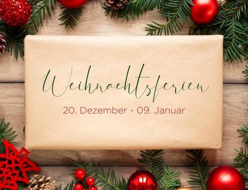 Weihnachtsferien und Workshoptage